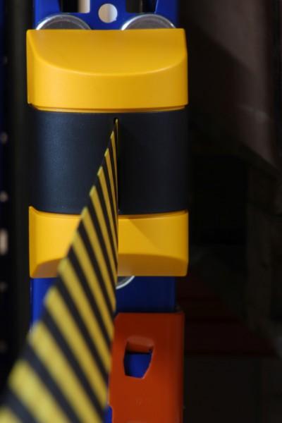 Gurtband mit magnetischer Befestigung schwarz-gelb oder rot-weiss
