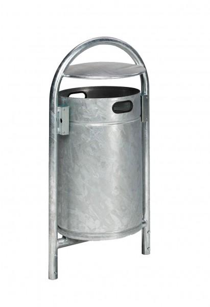 Abfallbehälter RB mit Schutzdach