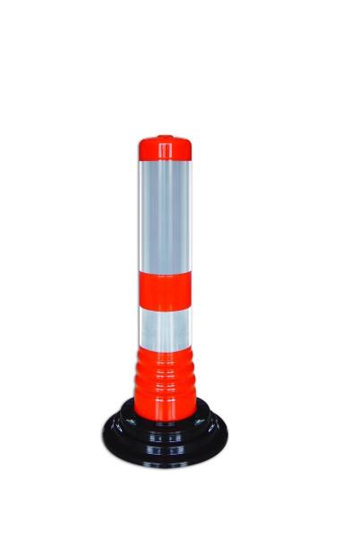 Flexibler Kunststoffpfosten zum Aufkleben - orange