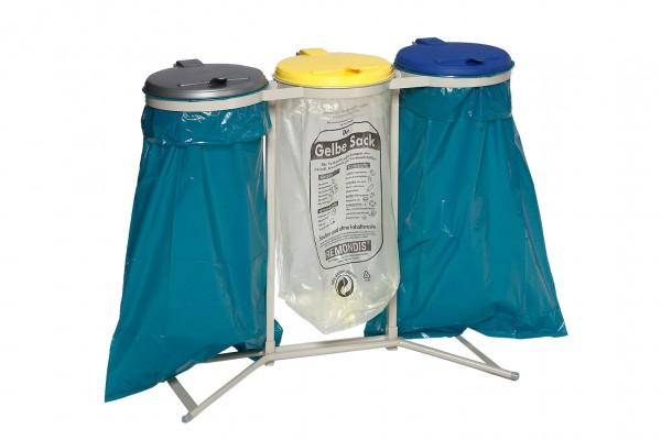 Abfallsammler 3-fach - für 120 Liter Abfallsäcke
