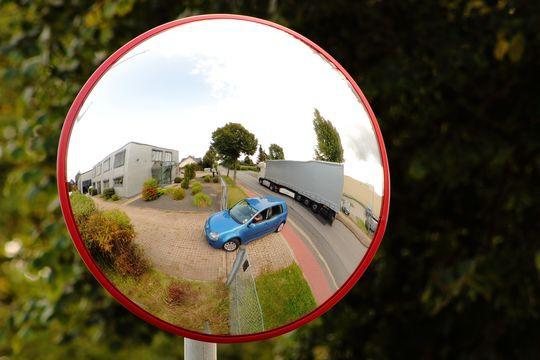 Panorama II Spiegel - 180°Grad mit Wandhalterung