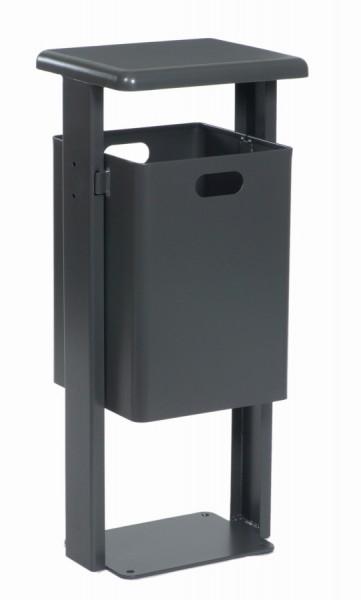 Abfallbehälter Porta zum Aufdübeln