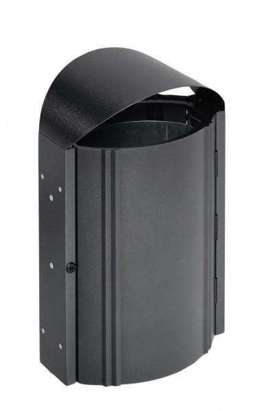 Abfallbehälter AS 79 mit Schutzdach - zur Wandbefestigung