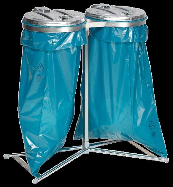 Doppel-Abfallsammler - für 120 Liter Abfallsäcke