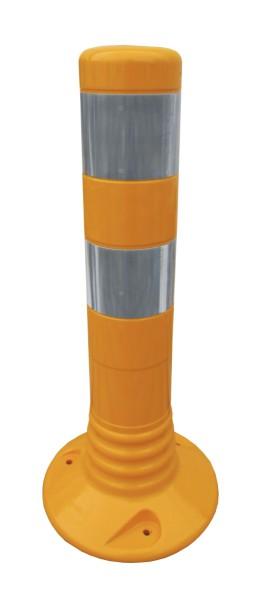 Flexibler Kunststoffpfosten Ø 80 mm - gelb