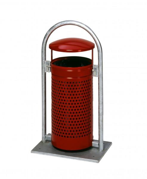 Abfallbehälter RB - mit Schutzdach