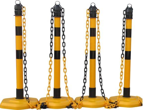 Kettenpfosten-Set Multi - gelb-schwarz