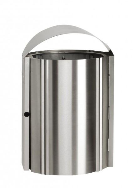 Abfallbehälter AG 79 zur Wandbefestigung - Edelstahl
