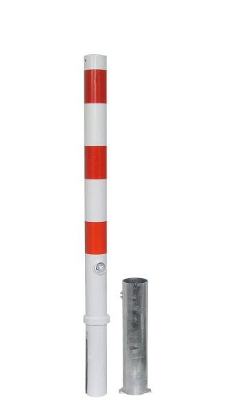 Absperrpfosten Ø 76 mm - herausnehmbar