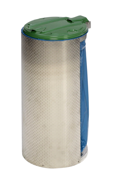 Abfallbehälter Kompakt-Junior - opt. mit Einflügeltür - Edelstahl
