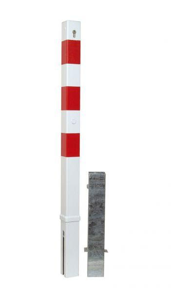 Absperrpfosten 70 x 70 mm - herausnehmbar
